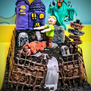 Spooky Scooby Doo cake