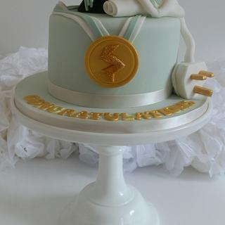 Graduation Cake - Cake by The Ivory Owl Cake Company