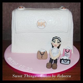 designer bag with model shopper