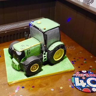 John Deere Tractor cake - Cake by Daisychain's Cakes