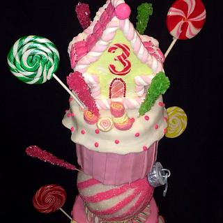 Candyland Christmas Birthday Cake