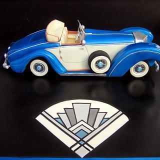 1920s vintage car cake