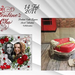 Fondant Cake Topper Sweet Valentine Collaboration 2017