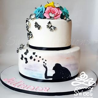 Butterfly Wish Cake - Cake by Sweet Obsessions Cake Co