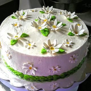 Daisy Cake - Cake by BakeNCraft.com