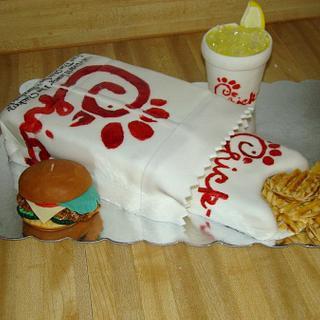 Chick-Fil-A combo Meal - Cake by Ebony