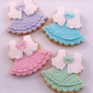Pastel Party Dress Cookies - Cake by Cheryl