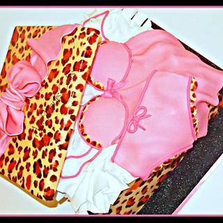 Leopard and Pink Lingerie Box