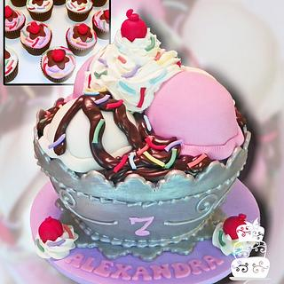 Ice Cream Sundae Cake - Cake by FaithfullyCakes