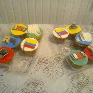 Colombian Independence Day Cupcakes