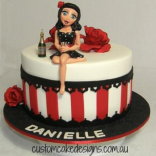 Rockabilly Girl Cake
