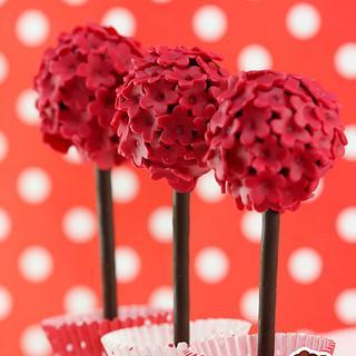 Blossom tree cake pops