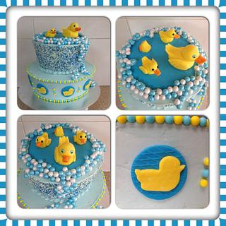 Duck Pond baby shower - Cake by CakesbyCorrina