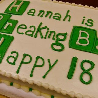 Breaking Bad Cake in ALL buttercream