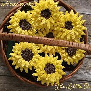 Sunflower cupcake bouquet - Cake by Dr. Angelique Vikram Goel