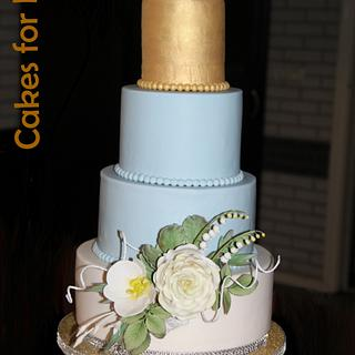 Wedding cake for golden anniversary - Cake by Cakes for Fun_by LaLuub