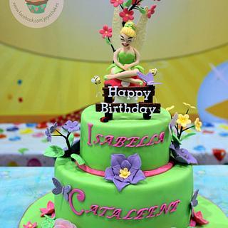Tinkerbell Theme Birthday Cake
