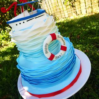 The 'Alex' of the Seas. The ombre waves cake.