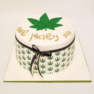 Canabis cake design