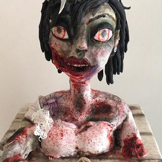 Zombie cake  - Cake by Hope Segura