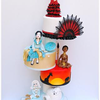 Dolls of the World - Cake by Dulces Mágicos de Patricia