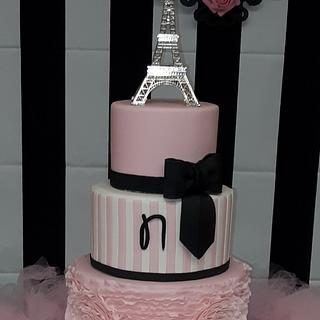 Paris Themed Sweet 16 - Cake by Nicole Verdina
