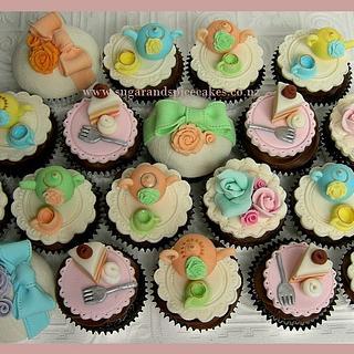 High Tea Party Cupcakes ~