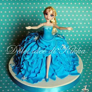 Frozen cake Elsa