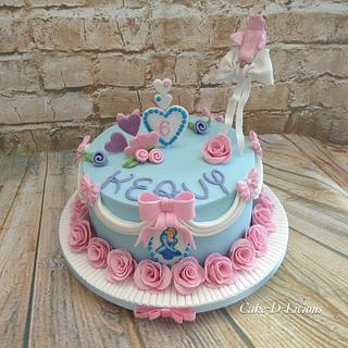 Gravity defying Cinderella 6th Birthday  - Cake by Sweet Lakes Cakes