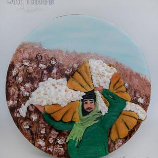 "Cotton Farmer  ""Spectacular pakistan :An International Sugar art Collaboration"""