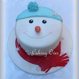 Snowman Face  - Cake by Amanda Brunott