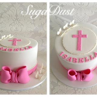 Bow's & Butterfly's Holy Communion Cake