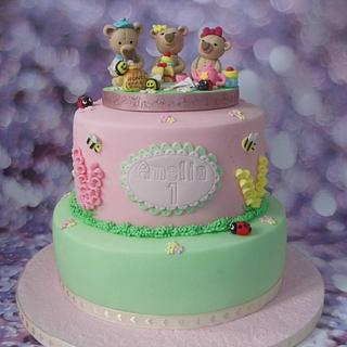 Teddy Bears Picnic - Cake by Karen's Cakes And Bakes.
