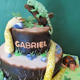 Gabriel's Reptiles  - Cake by the cake trend Elizabeth Rodriguez