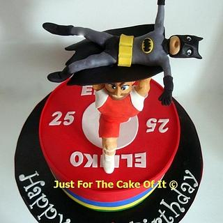Weightlifter & Batman cake