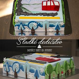Aircable in High Tatra  - Cake by Jana