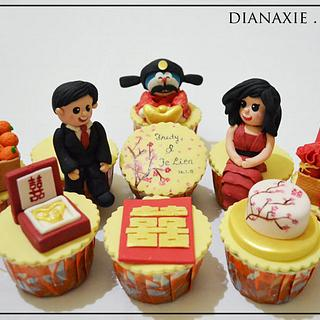 Chinese Engagement Cupcakes