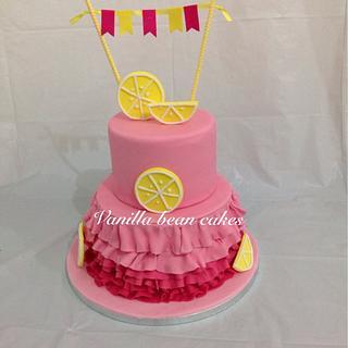 Admirable Pink Lemonade Cake 2 Cakes Cakesdecor Funny Birthday Cards Online Drosicarndamsfinfo