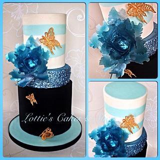 Ice Blue Wedding Cake.