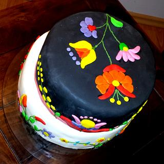 cake designed with Hungarian motives