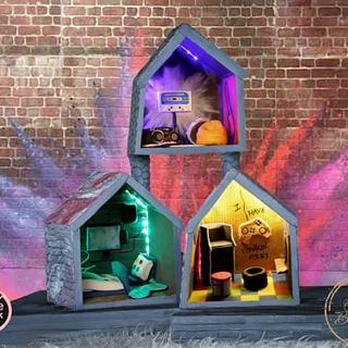 Cakerbuddies miniature dollhouse collab - Techno Den