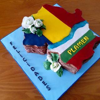 FLAG CAKE - Cake by Camelia