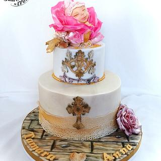 Christening cake for a sweet little Princess