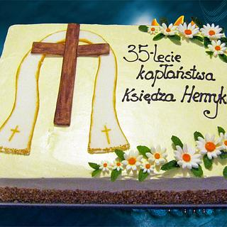Cake for the priest.