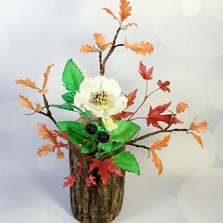 Autumn Leaves wafer paper flowers