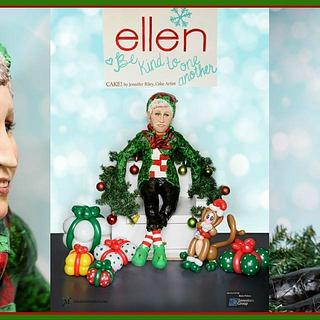 3.5 foot tall Ellen Degeneres Cake!!!!