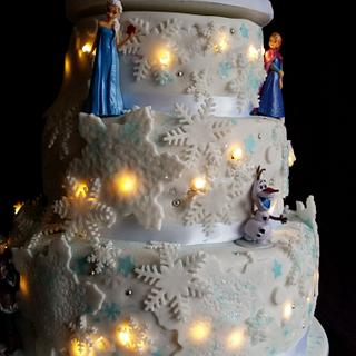 Frozen light up cake