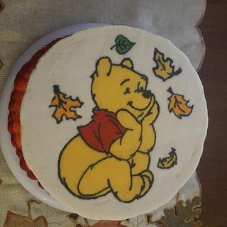 Winnie the Pooh Fall Cake