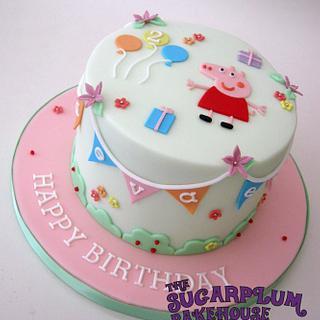Cute Simple Peppa Pig Cake