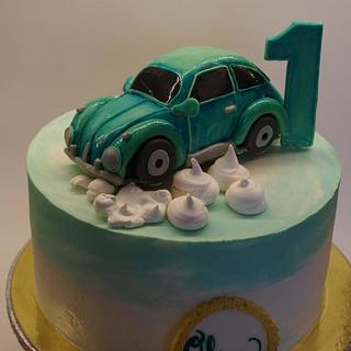 VW Beatle birthday cake - Cake by TinkaCakes